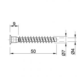 Конфирмат 7х50 мм (FU0005)
