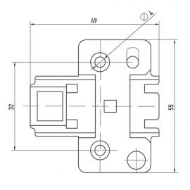 Петля с доводчиком Clip-On Muller (FU0002)